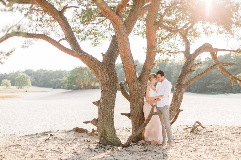 Fine Art Bruidsfotografie Verlovingsshoot Soesterduinen Engagement shoot
